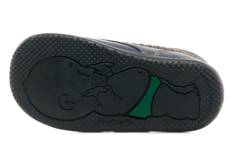 Schoenen met klitteband Kickers Bilou Blauw boven