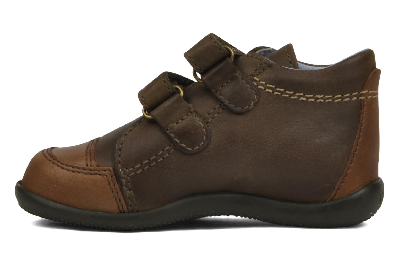 Schoenen met klitteband Kickers Bishop Bruin voorkant