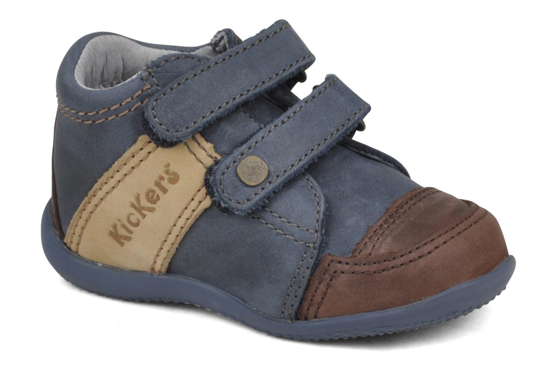Chaussures à scratch Kickers Bishop Bleu vue détail/paire