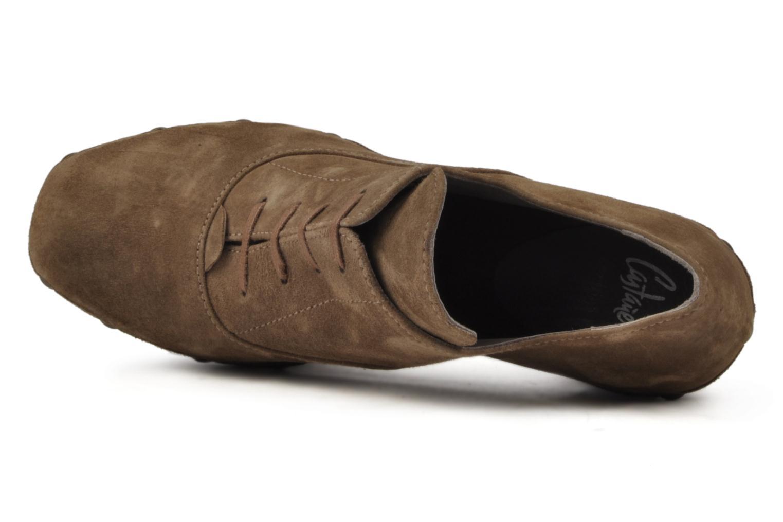 Chaussures à lacets Castaner Katia Marron vue gauche