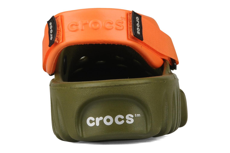 Sandalen Crocs Off Road grün ansicht von rechts
