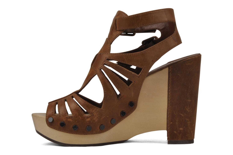 Sandales et nu-pieds Belle Arizona Marron vue face