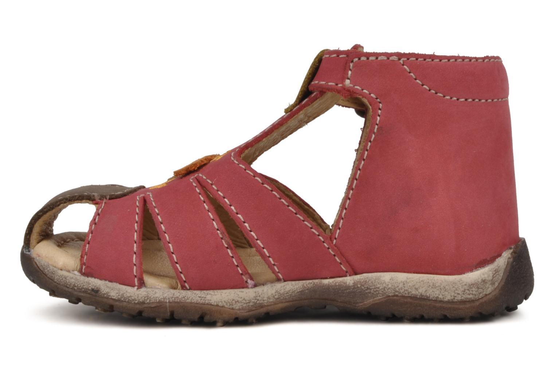 Sandalen Bopy Porsair rot ansicht von vorne
