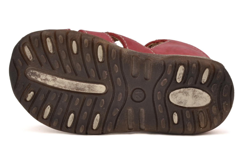 Sandalen Bopy Porsair rot ansicht von oben