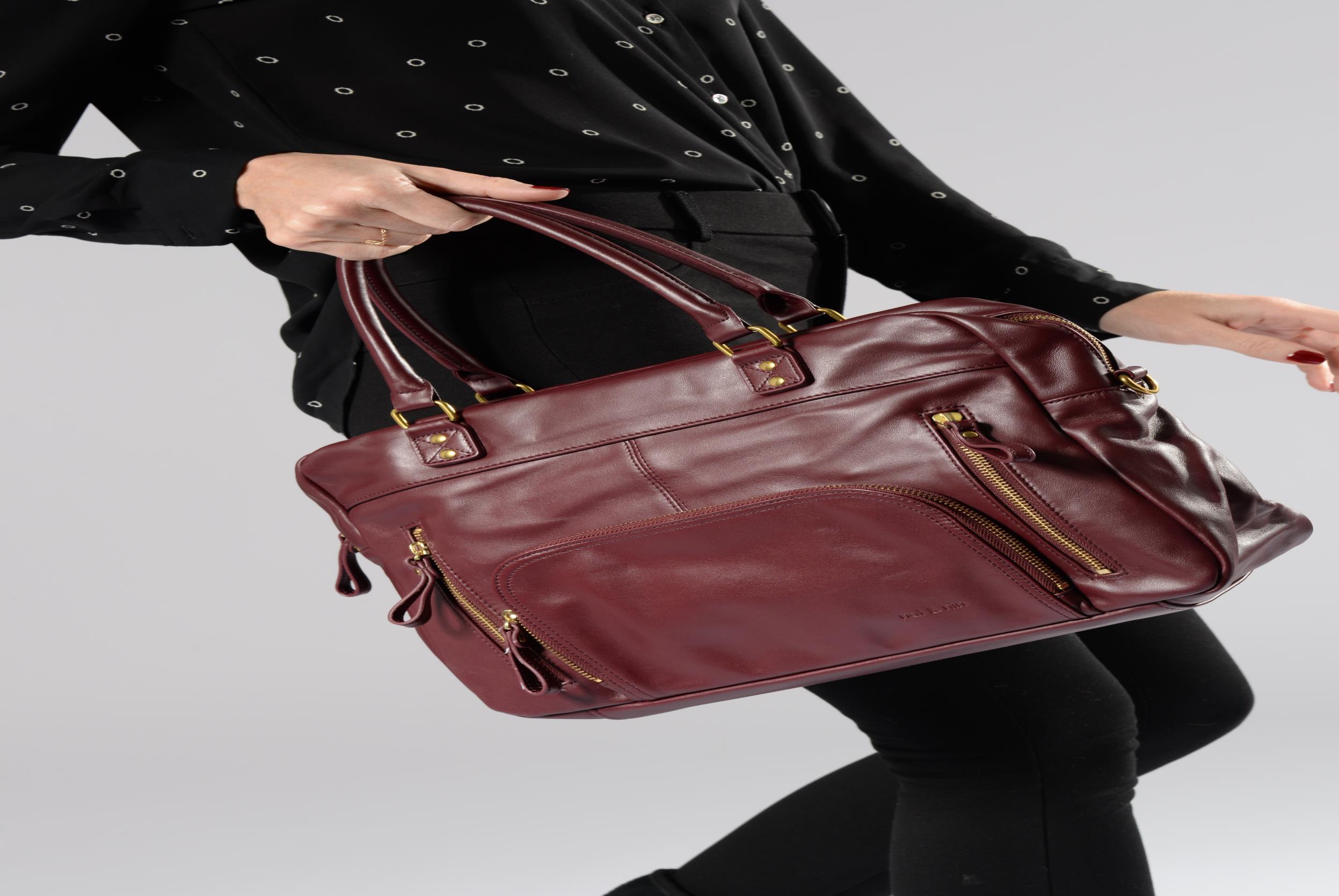 Handtassen Nat & Nin Macy Bordeaux boven
