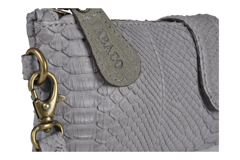 Bolsos Clutch Abaco Baguette Python Gris vista lateral izquierda