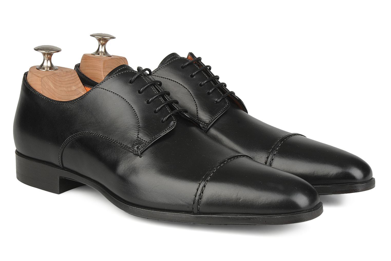 Chaussures à lacets Santoni William 10096 Noir vue 3/4