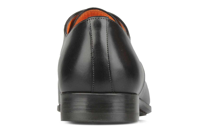 Chaussures à lacets Santoni William 10096 Noir vue droite