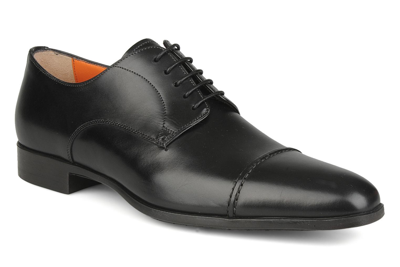 Chaussures à lacets Santoni William 10096 Noir vue détail/paire