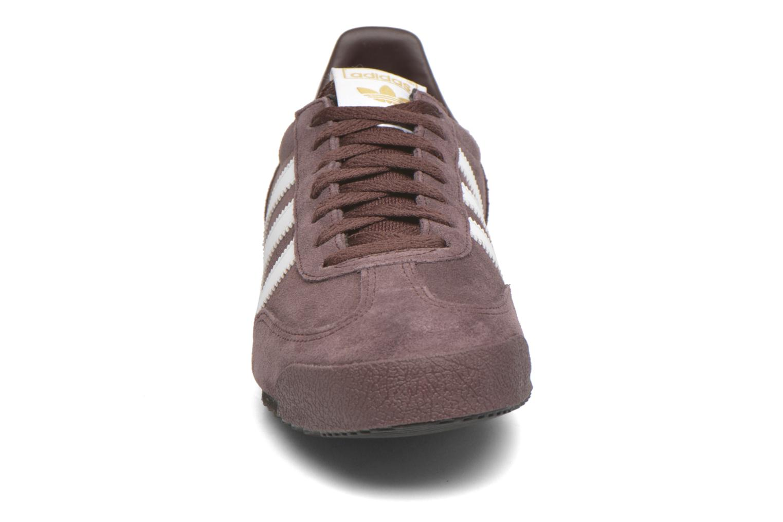 Baskets Adidas Originals Dragon Marron vue portées chaussures