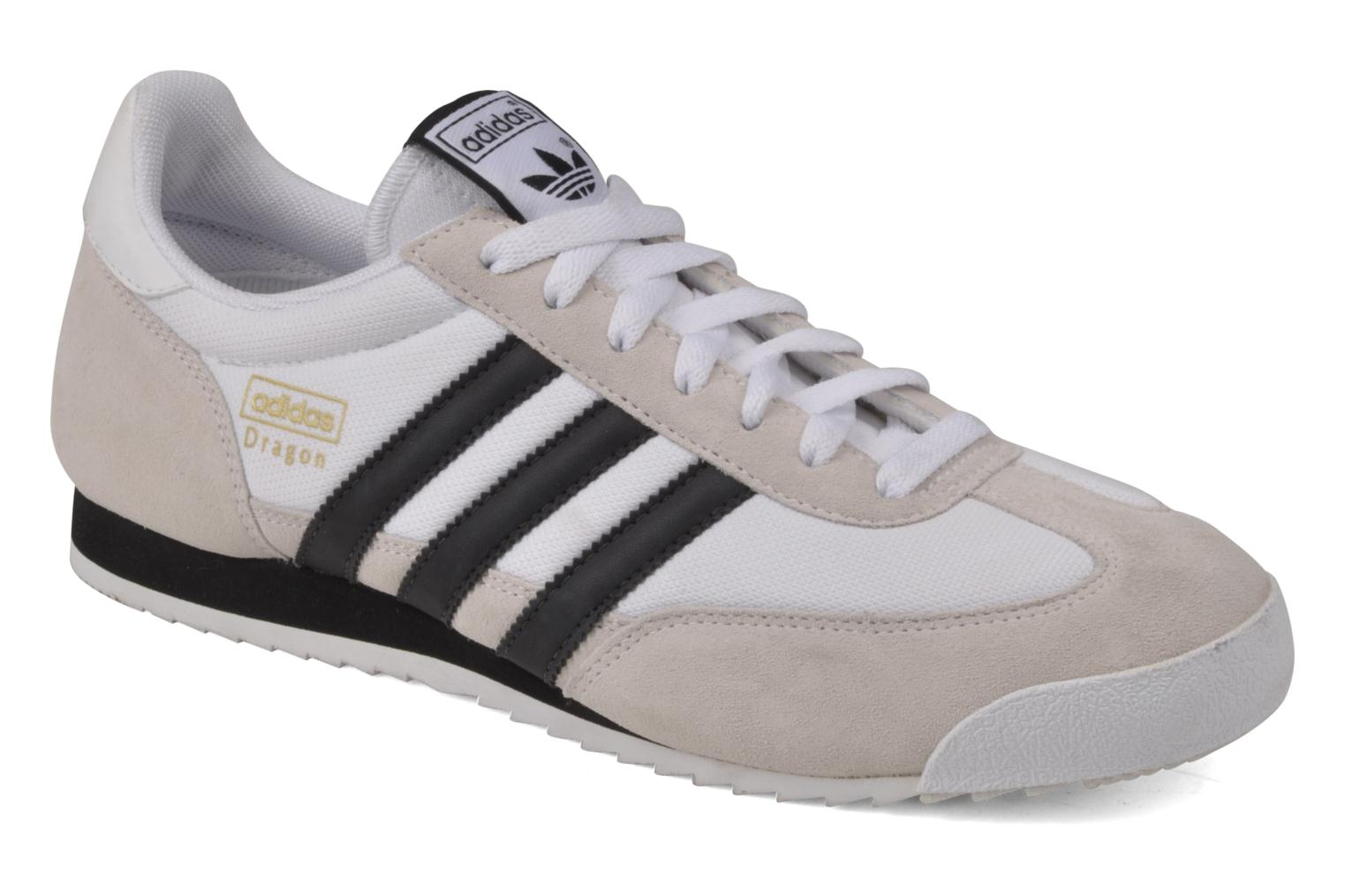 Baskets Adidas Originals Dragon Blanc vue détail/paire