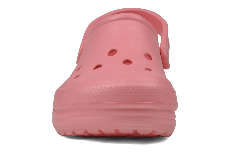 Mules et sabots Crocs Cloud Rose vue portées chaussures