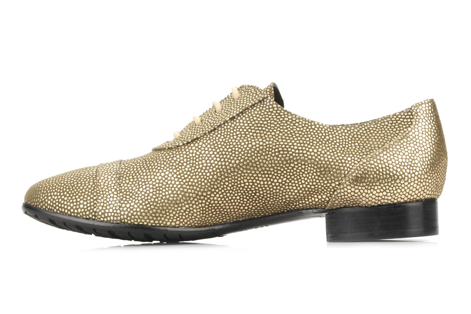 Lace-up shoes Maloles Dorothy Bronze and Gold front view