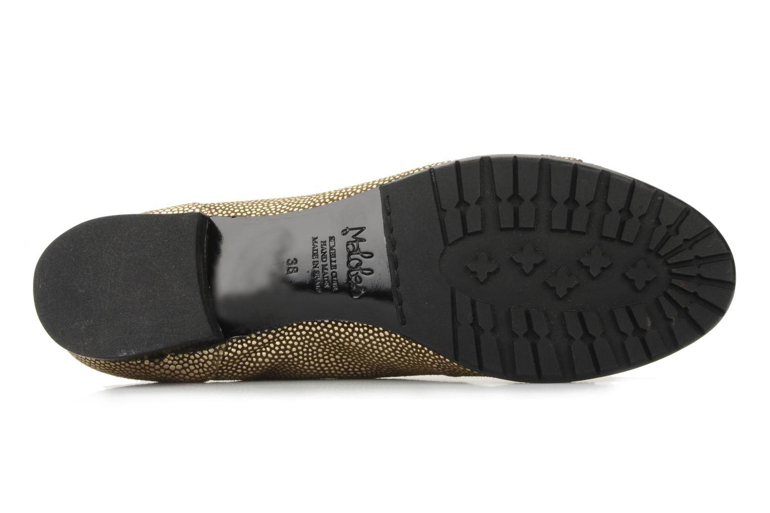 Lace-up shoes Maloles Dorothy Bronze and Gold view from above