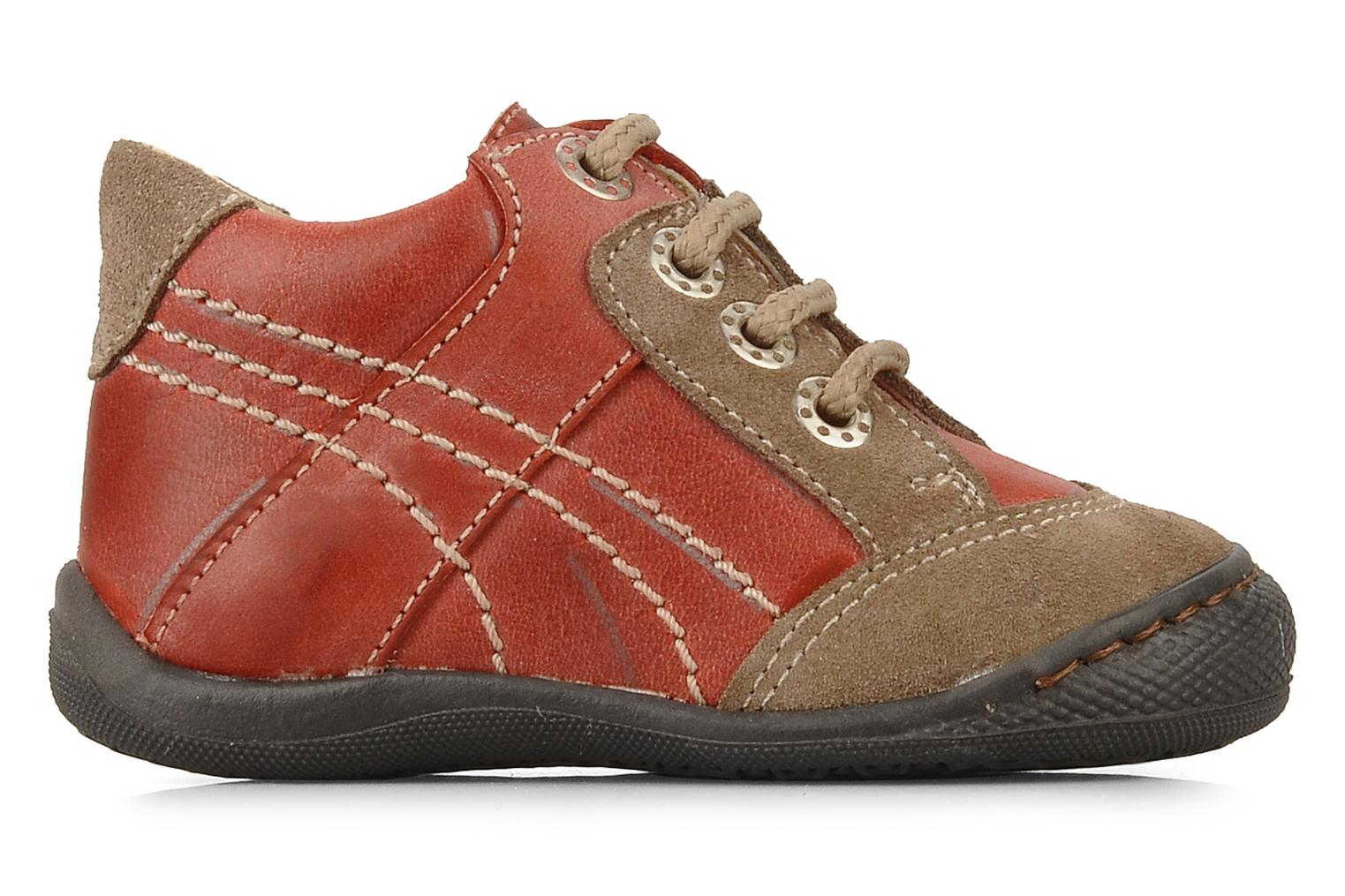 Ankle boots Natik 22507B Red back view