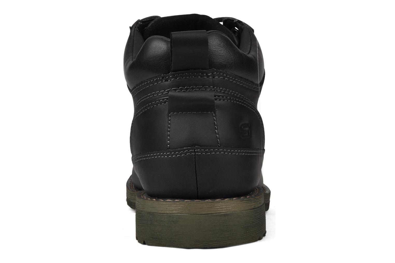 Chaussures à lacets Skechers Shockwaves Regions 61737 Noir vue droite