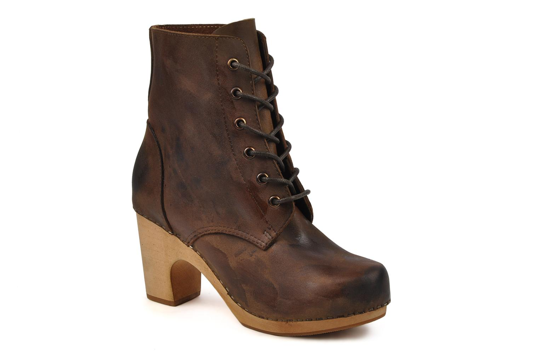 Bottines et boots Jeffrey Campbell Erikson Marron vue détail/paire