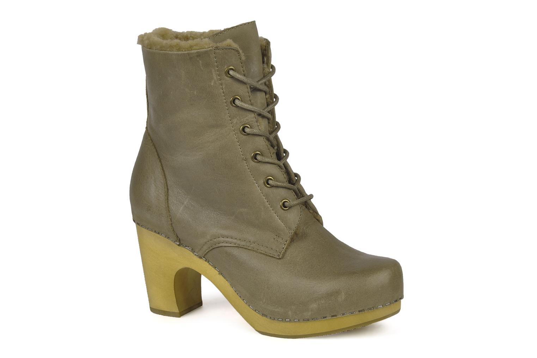 Bottines et boots Jeffrey Campbell Erikson Fur Vert vue détail/paire