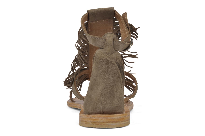 Sandales et nu-pieds Koah Elha Beige vue droite