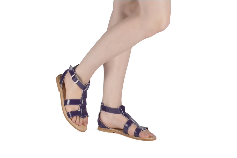 Sandales et nu-pieds Koah Ital Violet vue bas / vue portée sac