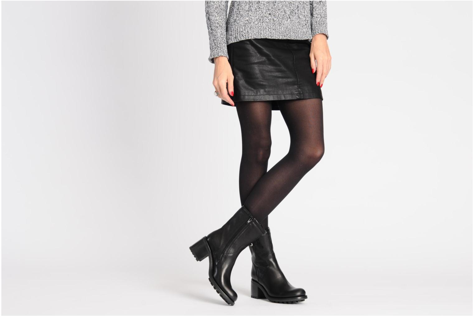 Ankle boots Free Lance Biker 7 mini gero Black view from underneath / model view