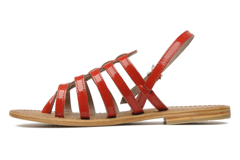 Sandales et nu-pieds Les Tropéziennes par M Belarbi Herisson Rouge vue face