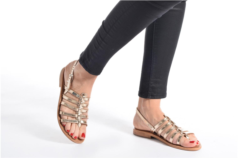 Sandales et nu-pieds Les Tropéziennes par M Belarbi Herisson Marron vue bas / vue portée sac