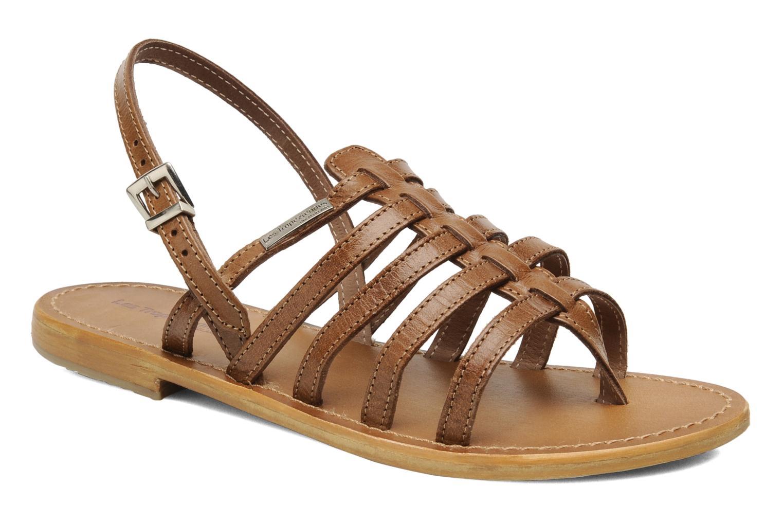 Sandales et nu-pieds Les Tropéziennes par M Belarbi Herisson Marron vue détail/paire