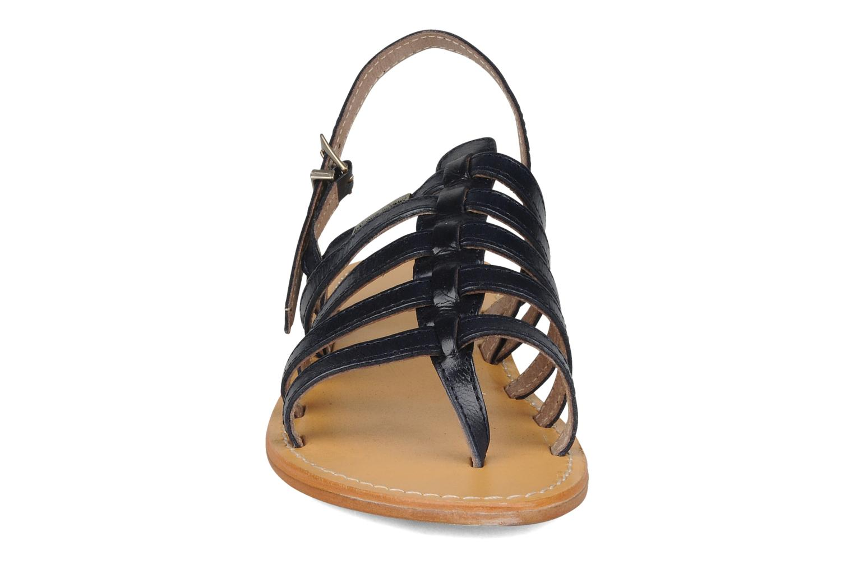 Sandales et nu-pieds Les Tropéziennes par M Belarbi Herisson Bleu vue portées chaussures