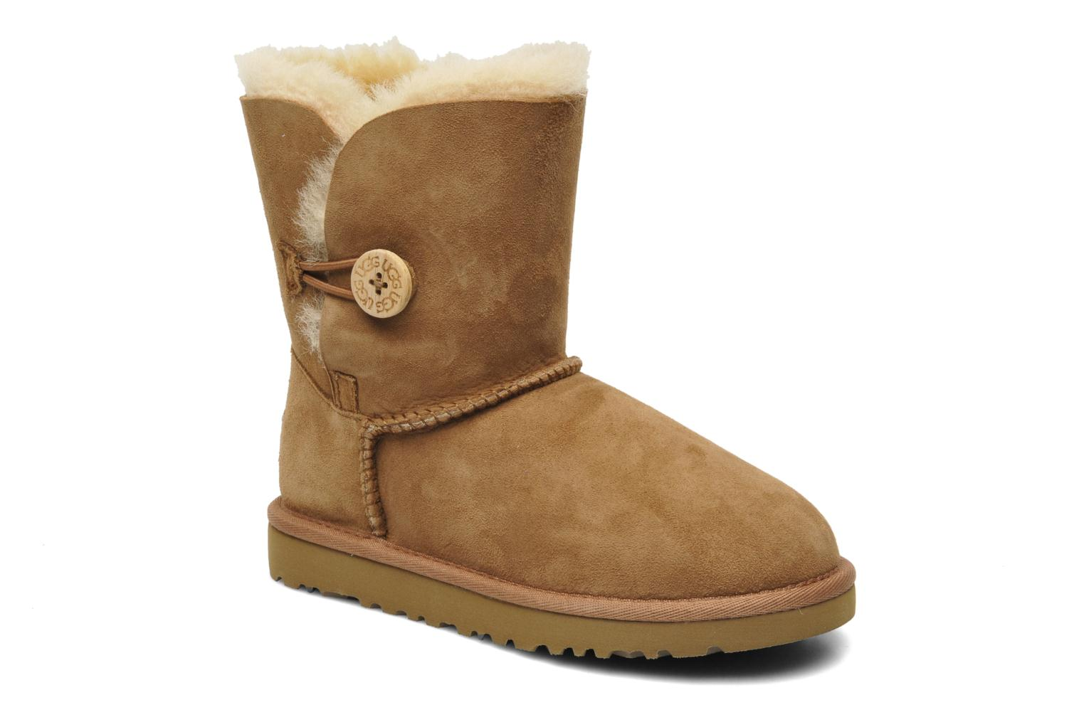 Bottes UGG Kid's bailey button Marron vue détail/paire