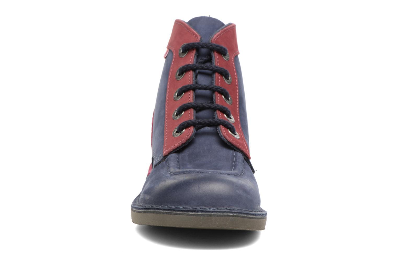Chaussures à lacets Kickers Kick color perm Bleu vue portées chaussures