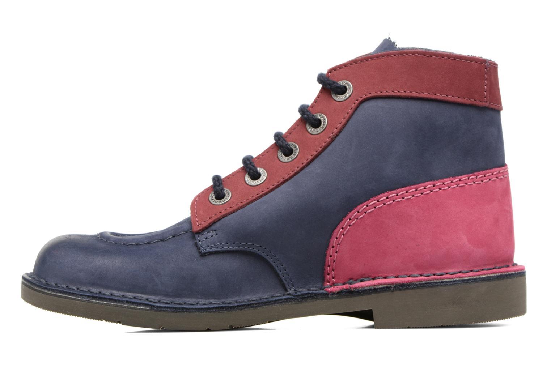 Chaussures à lacets Kickers Kick color perm Bleu vue face