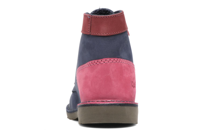 Chaussures à lacets Kickers Kick color perm Bleu vue droite