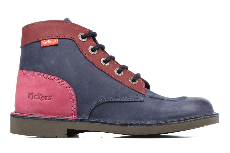Chaussures à lacets Kickers Kick color perm Bleu vue derrière