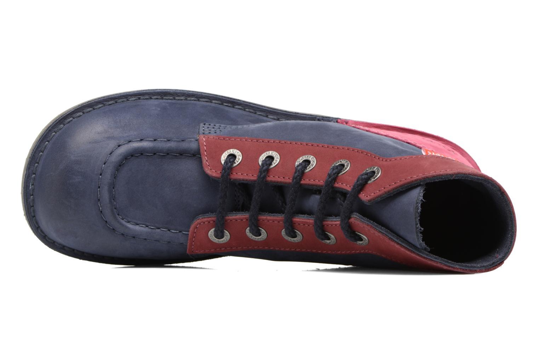 Chaussures à lacets Kickers Kick color perm Bleu vue gauche