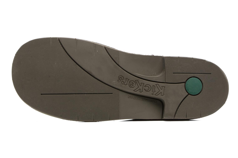 Chaussures à lacets Kickers Kick color perm Bleu vue haut