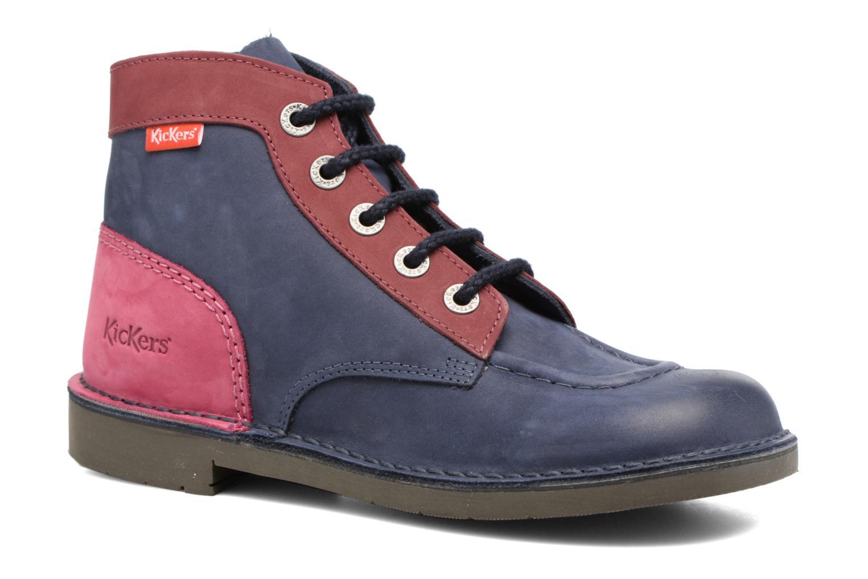 Chaussures à lacets Kickers Kick color perm Bleu vue détail/paire