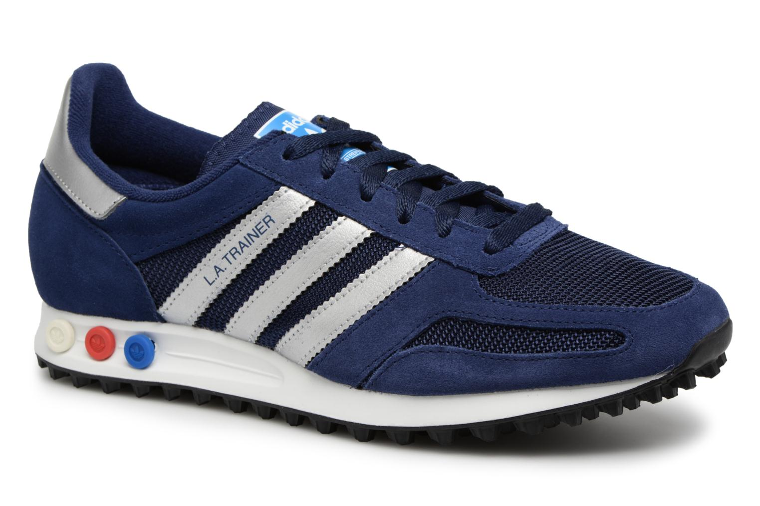 Baskets Adidas Originals LA Trainer Bleu vue détail/paire