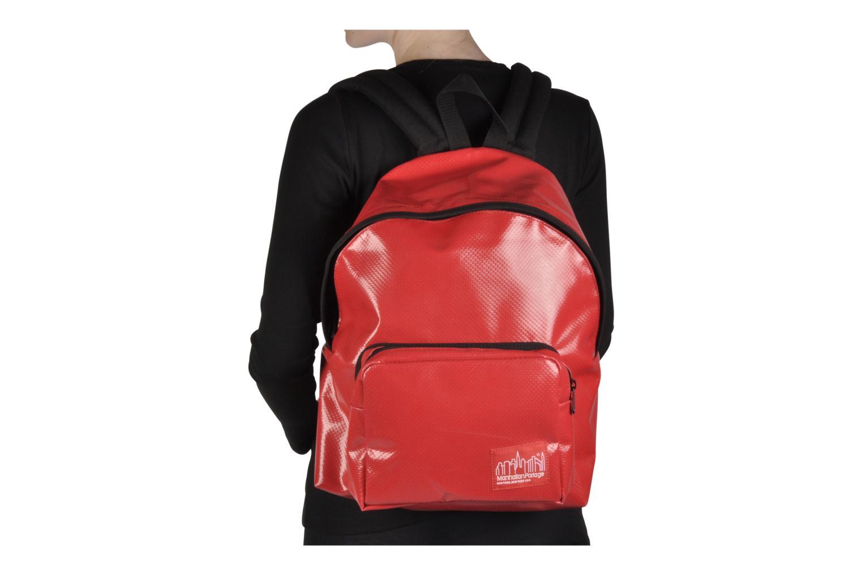 Zaini Manhattan Portage Big Apple Backpack MD Rosso immagine dall'alto