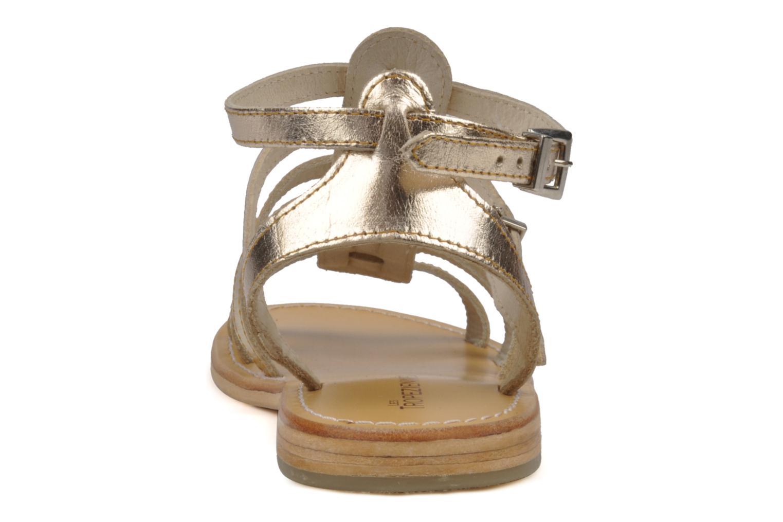 Sandalen Les Tropéziennes par M Belarbi Hic Goud en brons rechts