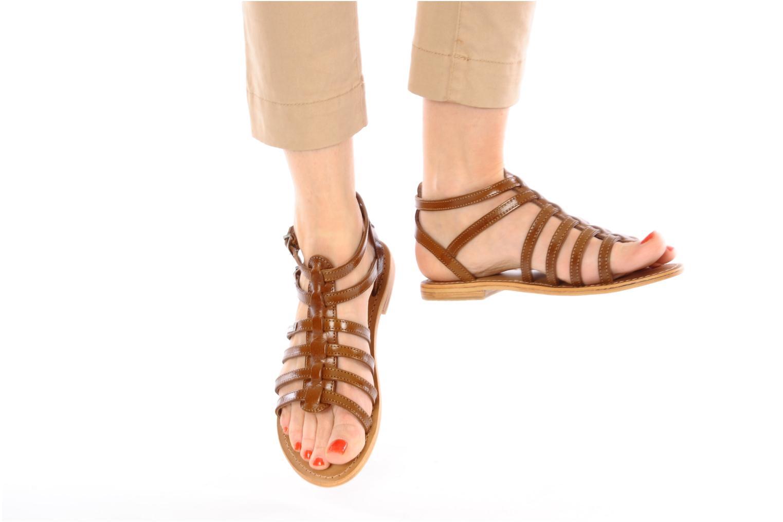 Sandalen Les Tropéziennes par M Belarbi Hic braun ansicht von unten / tasche getragen