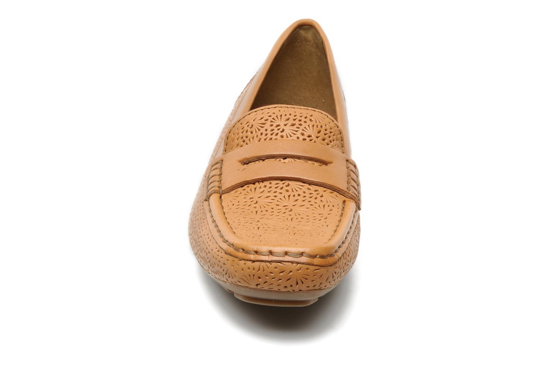 Mocassins Geox D Grin E Marron vue portées chaussures