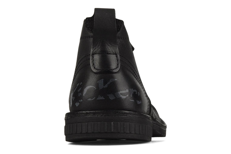 Chaussures à lacets Kickers Jecho Noir vue droite