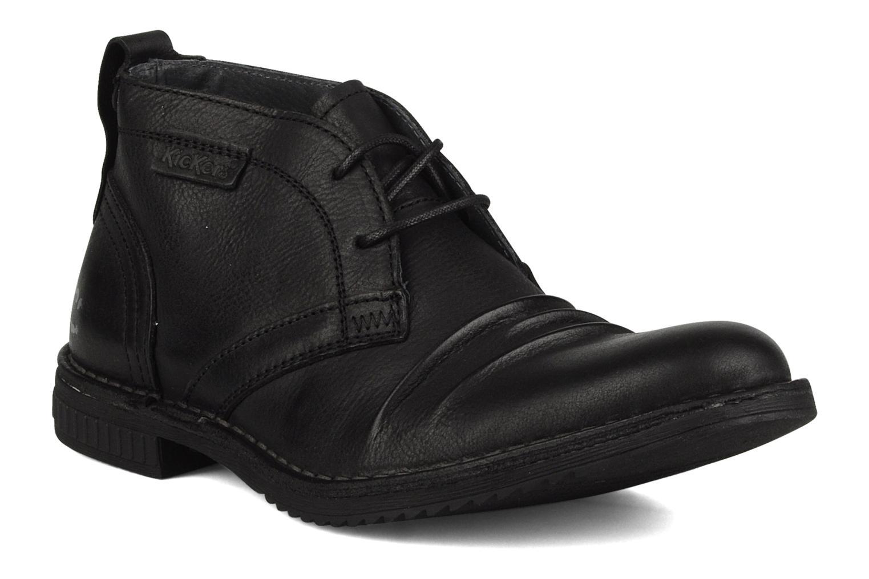 Chaussures à lacets Kickers Jecho Noir vue détail/paire