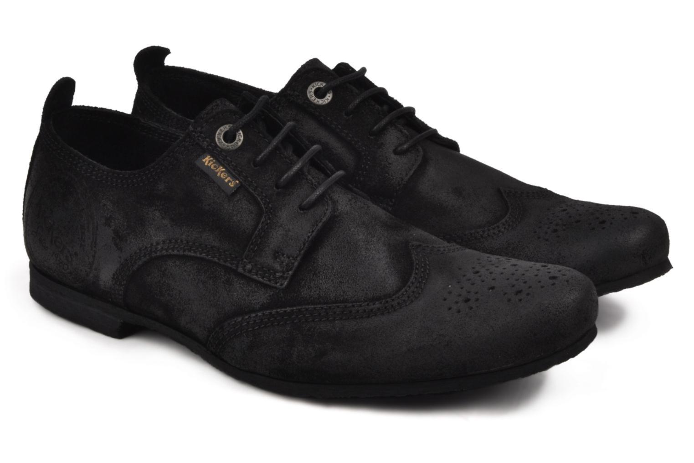 Chaussures à lacets Kickers Koncept Noir vue 3/4