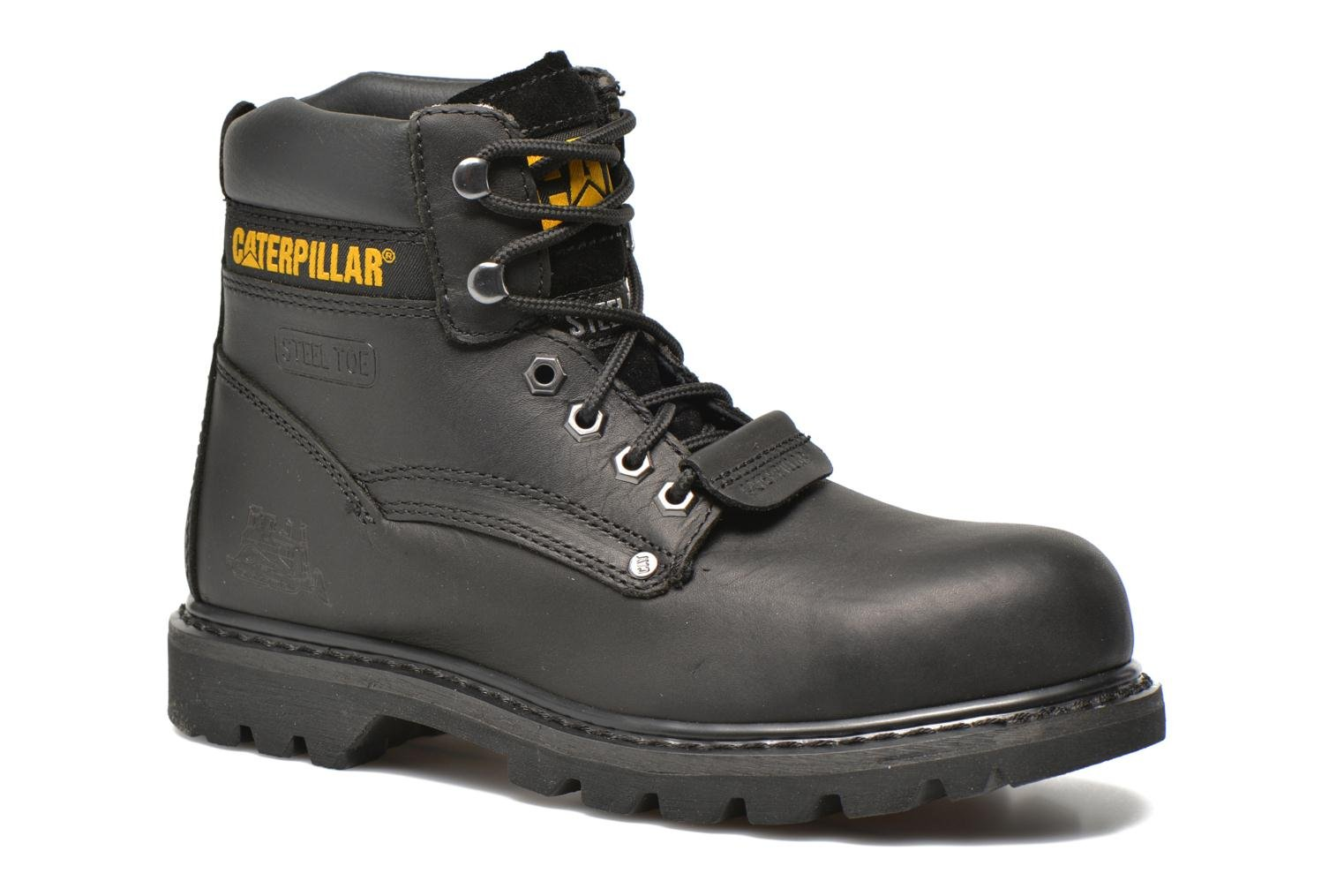 Ankle boots Caterpillar Sheffield ST Black detailed view/ Pair view