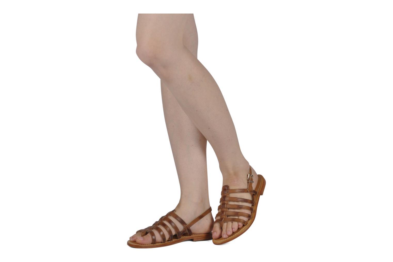 Sandalen Les Tropéziennes par M Belarbi Heriber braun ansicht von unten / tasche getragen