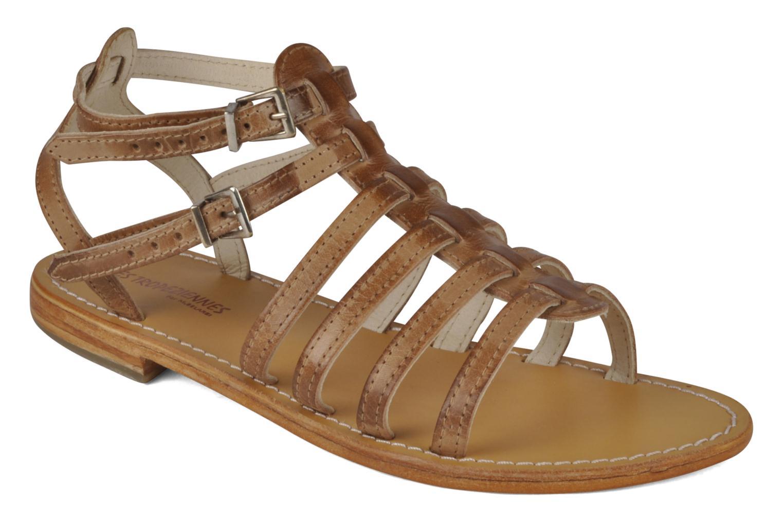 Sandales et nu-pieds Les Tropéziennes par M Belarbi Hicare Beige vue détail/paire