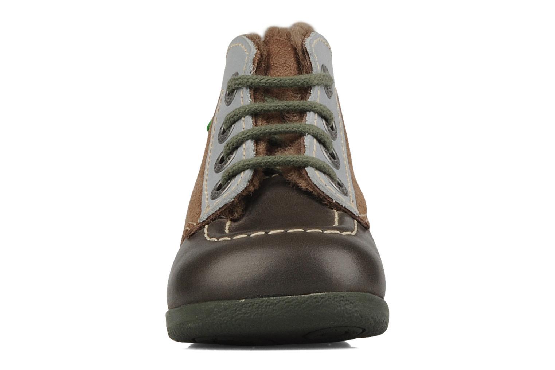 Stiefeletten & Boots Kickers Babyski braun schuhe getragen