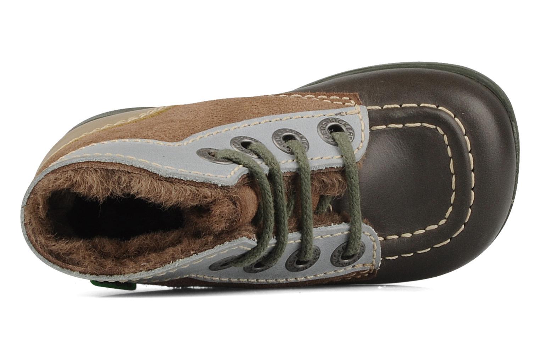Boots en enkellaarsjes Kickers Babyski Bruin links